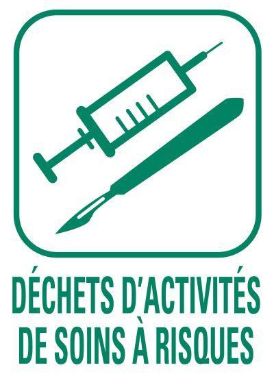 Pictogramme Déchets d'activités de soins à risques
