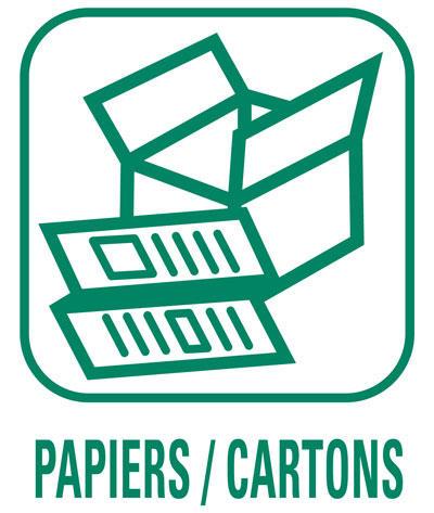 Pictogramme Papiers et cartons