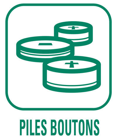 Pictogramme Piles boutons