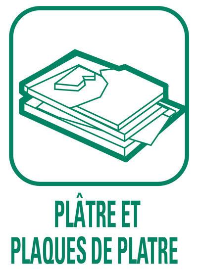 Pictogramme Plâtres et plaques de plâtres