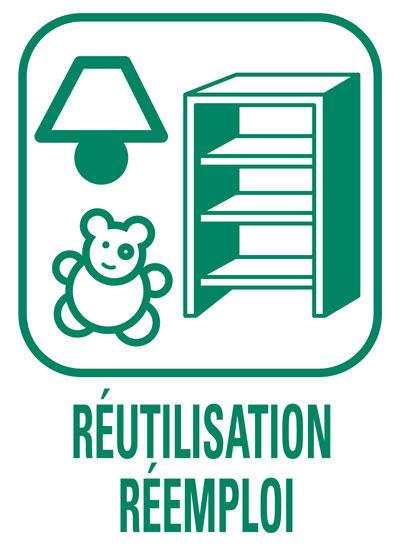 Pictogramme Réemploi et réutilisation