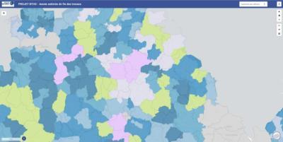 Carte estimative de fin des travaux de déploiement du Trés haut débit