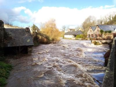 Inondations sur Guingamp-Paimpol Agglomération en janvier 2020