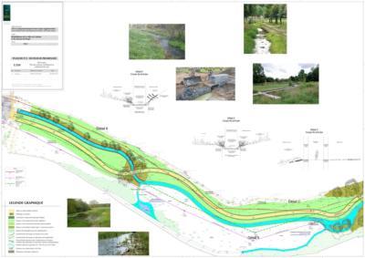 Le plan du réaménagement de la vallée de Cadolan à Guingamp