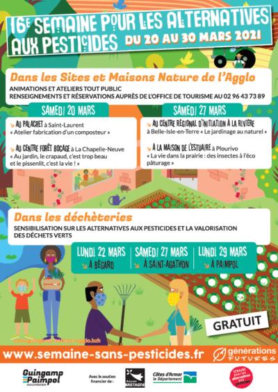 affiche pour la semaine des alternatives aux pesticides 2021 guingamp paimpol agglo